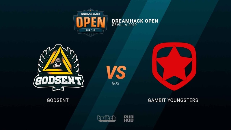 GODSENT vs Gambit Youngsters - DH Open Sevilla 2019 - map2 - de_train [TheCraggy MintGod]