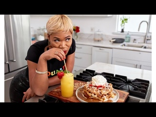 How Make Waffles w/ Butter Syrup & Peach Mimosas!