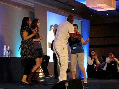 Asylum 2009 Supernatural Charles Malik Whitfield dances with members of the audience