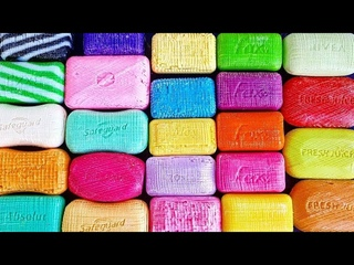 Cutting soap cubes + lathering soaked soap 🧼 Relaxing sounds satisfying video/ tingles 🎧