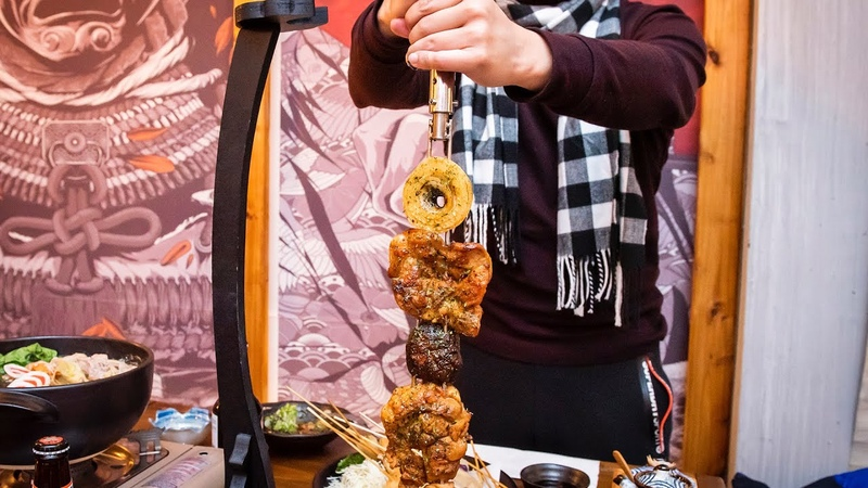 Ronin Izakaya in Toronto skewers meat on samurai swords
