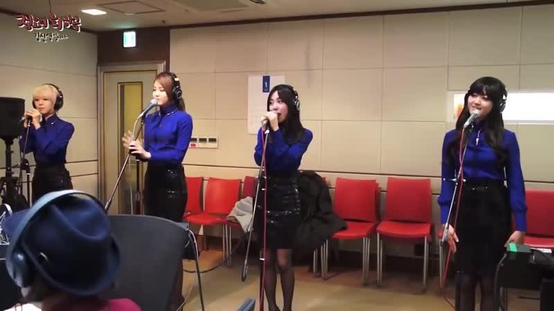 정오의 희망곡 김신영입니다 AOA Miniskirt 에이오에이 짧은치마 20140206