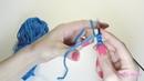 Итальянский набор петель с переходом на резинку 1х1 УРОКИ ВЯЗАНИЯ СПИЦАМИ для начинающих SM