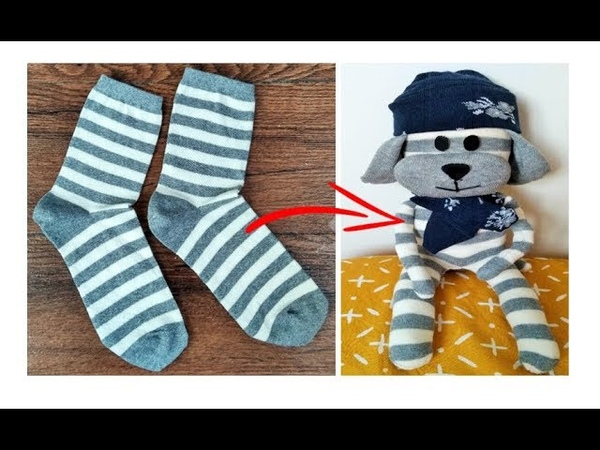 RECICLAR ROPA PELUCHE DE CALCETINES DIY REUSE RECYCLE OLD JEANS TRANSFORM YOUR CLOTHES