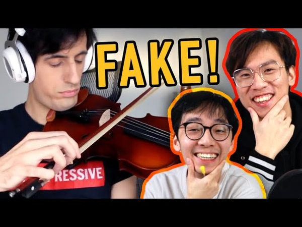Davie504 FAKES Playing the Violin
