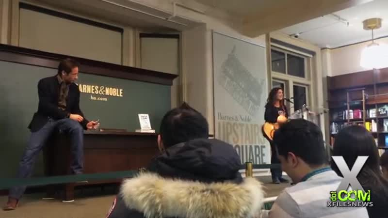 Bree Sharp sang her song David Duchovny at David Duchovnys Barnes Noble Holy Cow 21115.