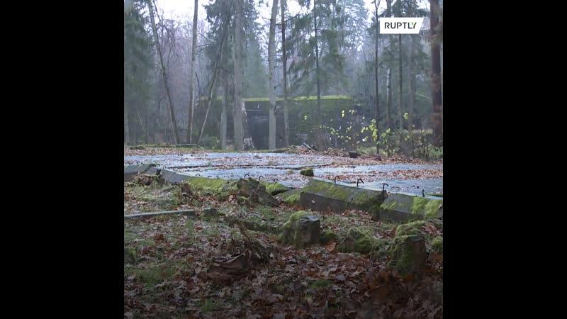 Ремонт на территории бункера Волчье логово в Польше чтобы увеличить поток туристов
