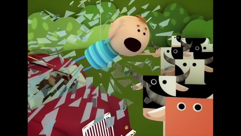 Аркадий Паровозов спешит на помощь Почему всегда нужно пристегивать ремень в машине мультфильм mp4