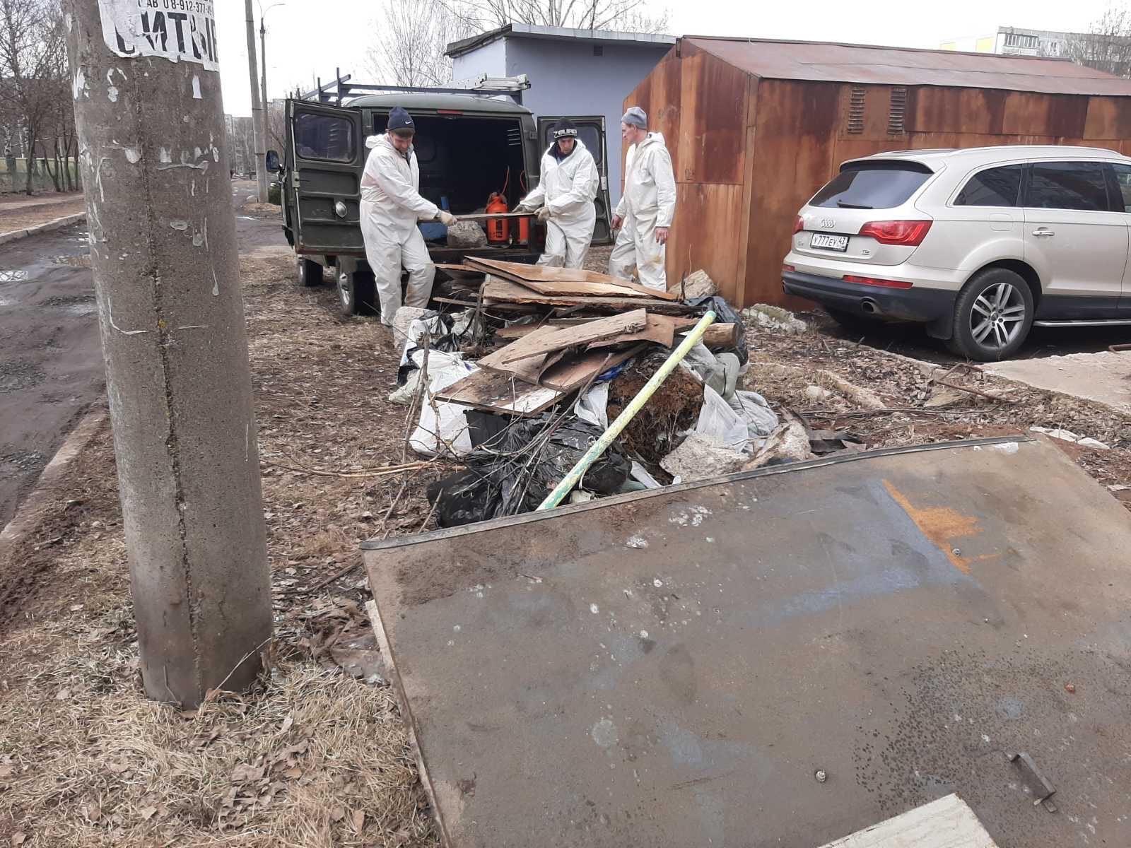 Проспект Строителей дом 46. Уборка строительного мусора