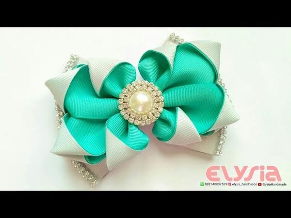 Two Tone Helena Ribbon Bow | DIY by Elysia Handmade