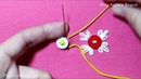 Hand embroidery button tricks Hand Embroidery techniques with button Different classes embroidery