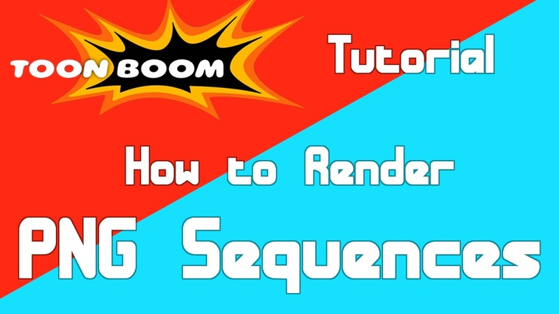 How to Render a PNG Sequence in Toon Boom