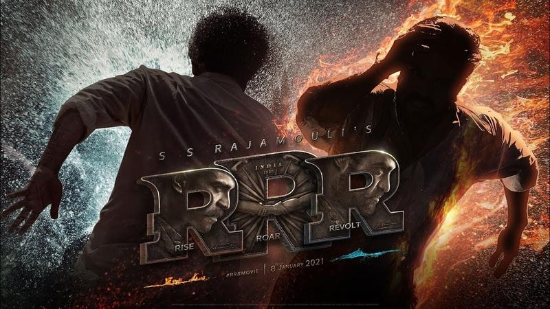 RRR Motion Poster NTR Ram Charan Ajay Devgn Alia Bhatt Olivia Morris SS Rajamouli