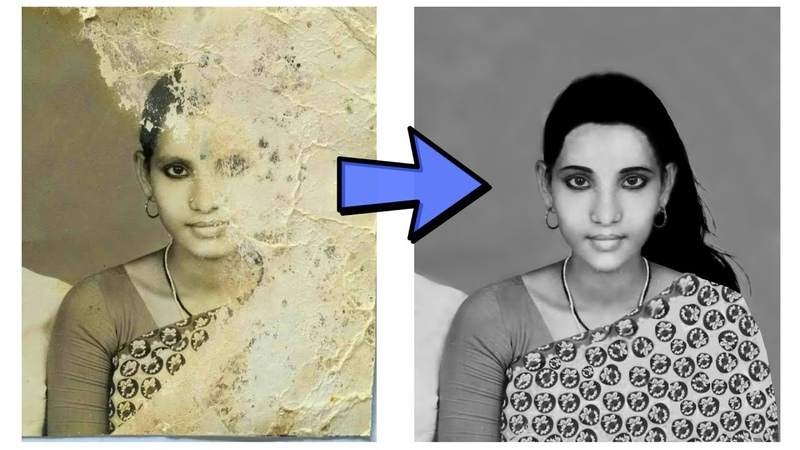 Very Old Photo restoration Photoshop Tutorials