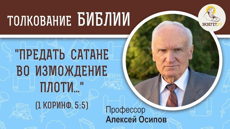 Предать сатане во измождение плоти 1 Коринф 5 5 Алексей Ильич Осипов Толкование Нового Завета