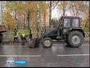 В Ярославле продолжается борьба с палой листвой грязными бордюрами и высокой травой