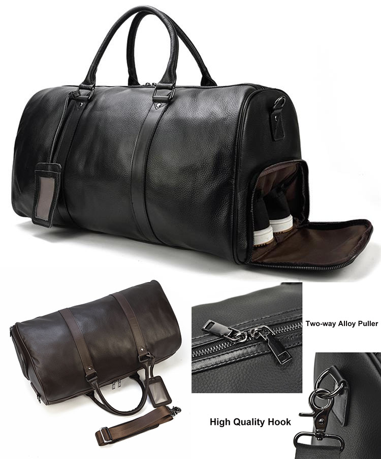 Дорожная сумка из натуральной кожи -