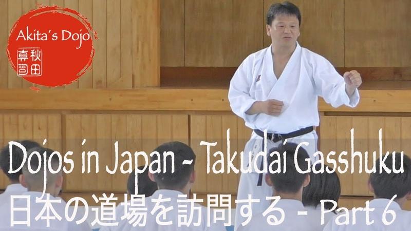 Visiting Karate Dojos in Japan - Part 6 Gasshuku Takudai Karate Club 拓大空手部夏合宿【Akita's Karate Video】