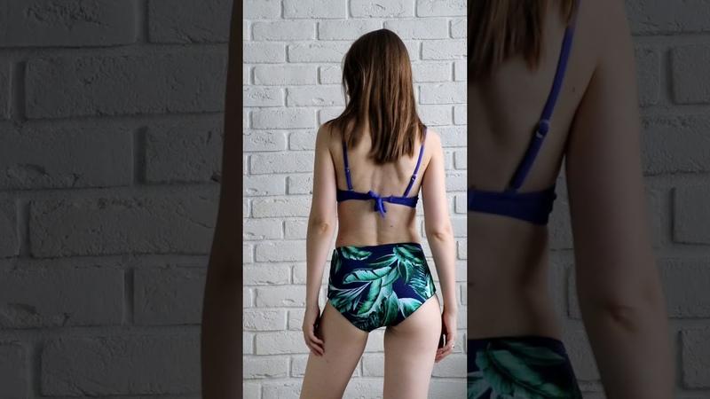 Романтичный купальник в синих оттенках с AliExpress видео с примеркой