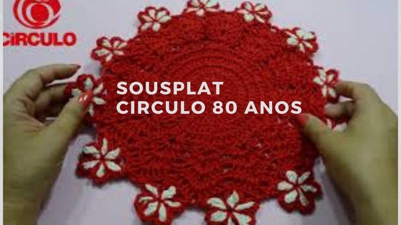 Sousplat vermelho Círculo Silvana Todeschini Artsil