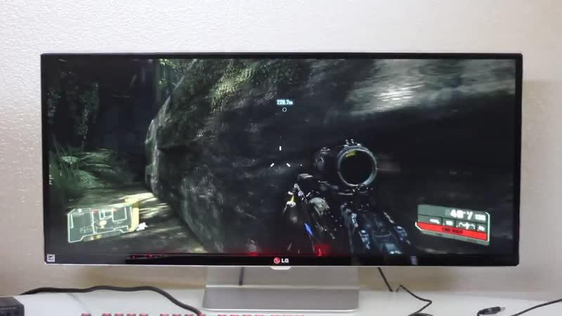 Crysis 3 3440x1440 gameplay (LG 34UM95)