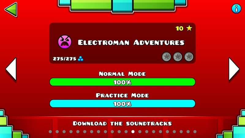 Electroman Adventures Geometry Dash Прохождение 13