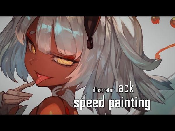 Speed painting オリジナルイラスト「カフェイン」を描いてみた lack