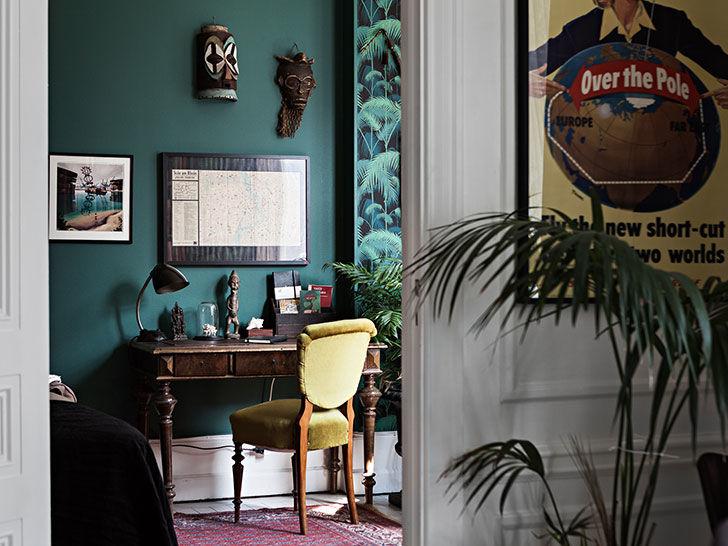 Квартира с интересными ретро интерьерами в Стокгольме || 01