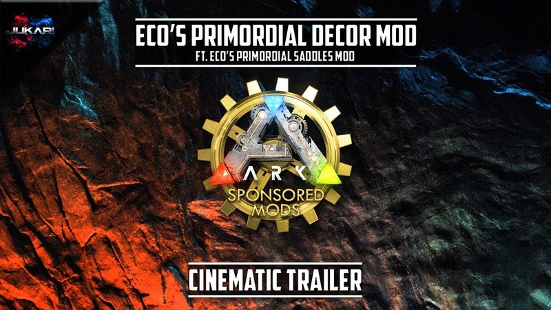 ARK Survival Evolved | Ecos Primordial Decor Ft. Ecos Primordial Saddles Mod | Cinematic Trailer