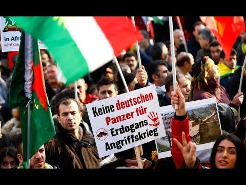 LIVE - Kurden-Demo gegen türkische Operationen in Afrin in Köln