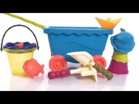 Набор для игры с песком и водой Тележка Море 11 предметов от Battat