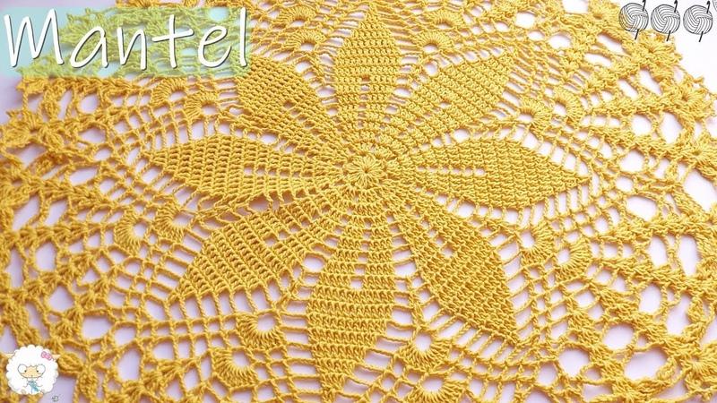 Mantel carpeta tejido a crochet PARTE I