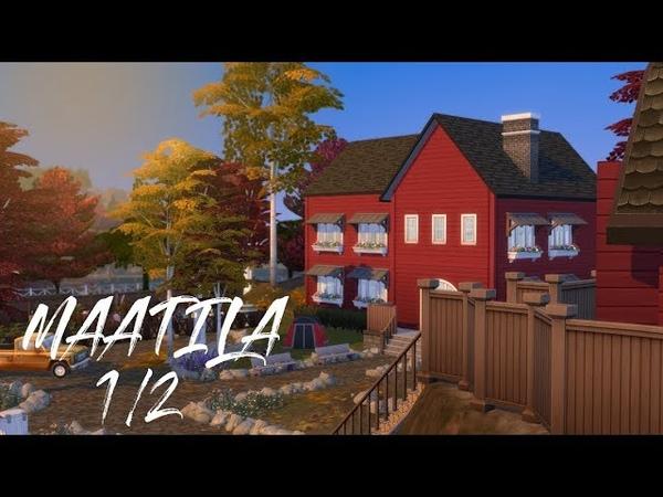 The Sims 4 Speedbuild Rakennetaan iso maatila farmi 🌞🐷 1 2