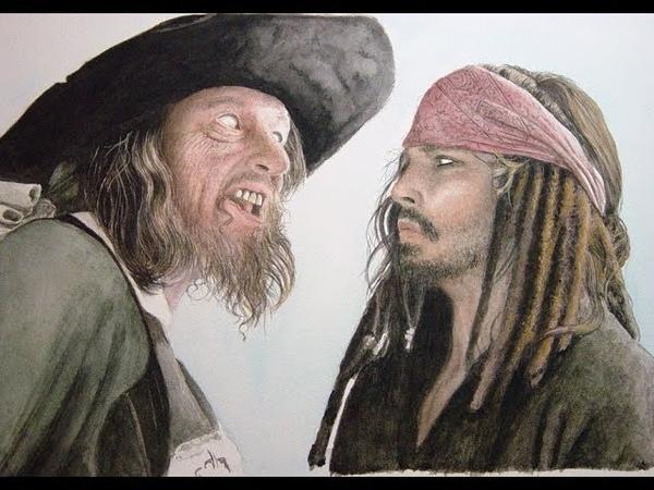 Капитан Джек Воробей и Барбосса не могут поделить Жемчужину Эпизод к ф Пираты Карибского Моря 3 😄