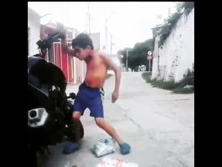 Car alarm dance
