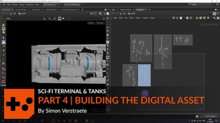 Sci-fi Terminal and Tanks   Part 4   Building the Digital Asset