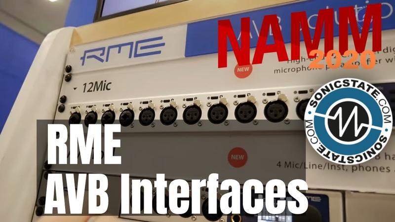 NAMM 2020: RME AVB Interfaces