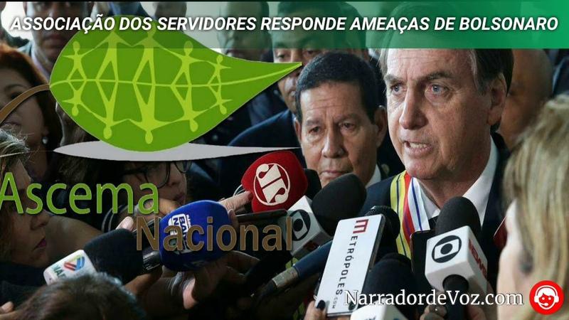 Associação dos Servidores responde ameaças de Bolsonaro sobre ponta da praia tomaremos medidas c…