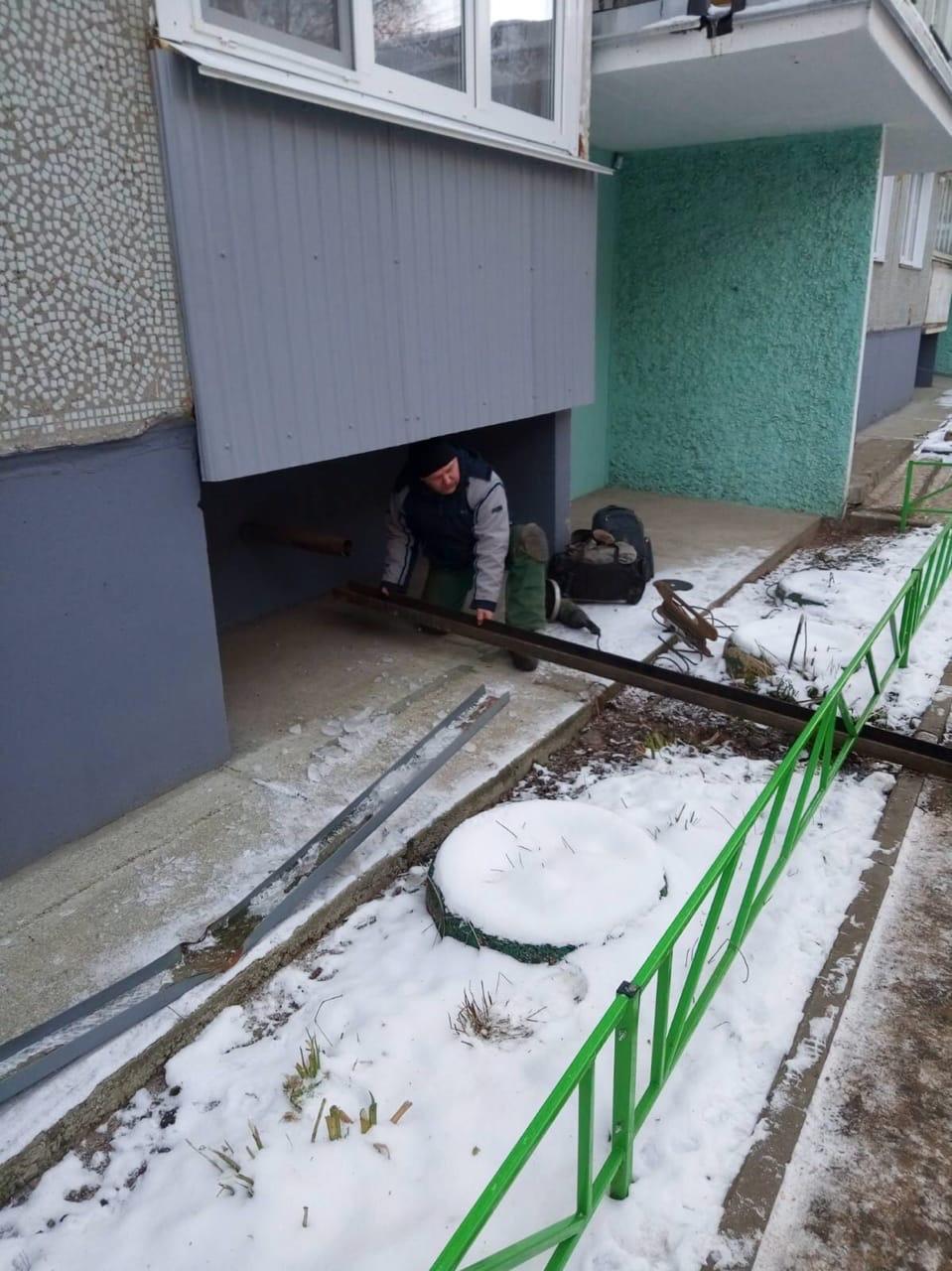 Улица Московская дом 173 ремонт водостока с