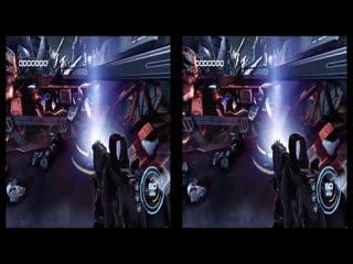 Virtual reality. alien rage 3d vr sbs