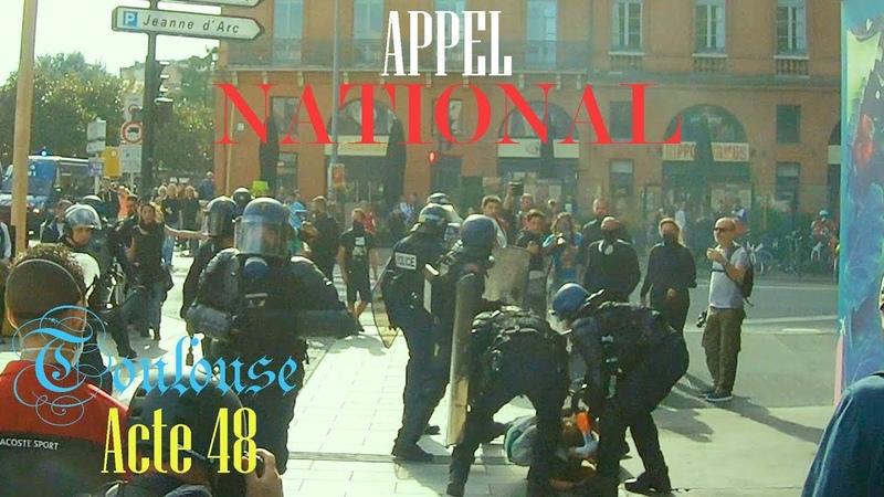 Gilet jaune acte 48 Toulouse APPEL NATIONAL MANIFESTATION IMPOSSIBLE