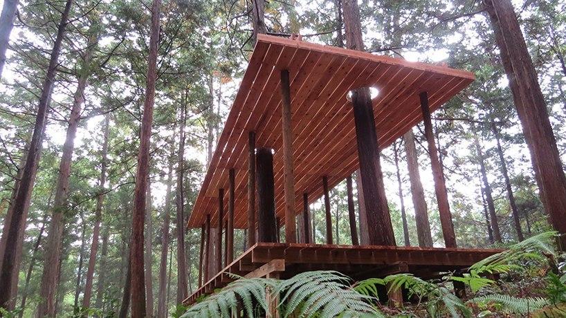 ivan juarez x-studio задумал новый подход к природному ландшафту горы Оава - охраняемого и священного леса, расположенного в городе Камияма, Япония .