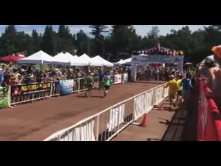 A 70 year old lady finishing a 100 mile endurance race just seconds before the 30 hour cutoff