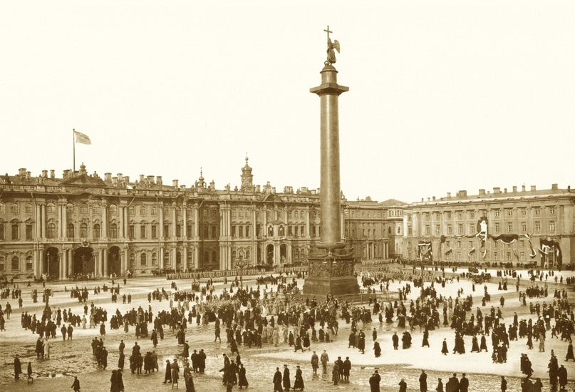 На Дворцовой площади. г. Санкт-Петербург. 1913 г.