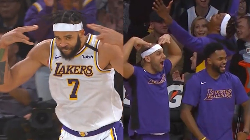 JaVale McGee hitting 3-point buzzer beaters! LA Lakers vs Pistons