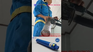 KHÔNG CẦN ĐỊNH TÂM - video thực tế dùng mũi khoan rút lõi bê tông khoét lỗ tường gạch lắp điều hòa