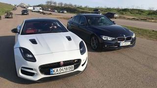 Дикий Jaguar F-Type R кинул вызов BMW M5, Audi S8, Yamaha R6 и не только