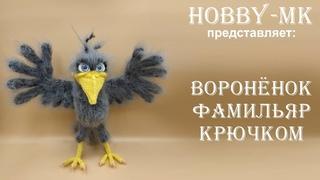Ворон крючком Фамильяр ч.1 (авторский МК Светланы Кононенко)