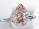 2.31 ct Pear Shape Natural Chocolate VS2 Diamond Solitaire Ring - BigDiamondsUSA