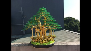 Bonsai handmade dây đông | hướng dẫn làm cây đa bằng dây đồng , nhôm màu | bonsai handmade ha noi.